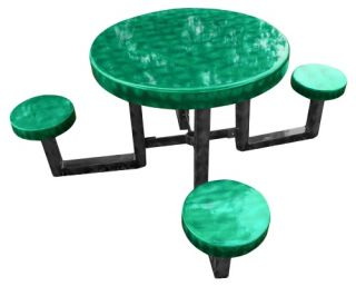 OFab Kid's Round Picnic Table with Black Base   Picnic Tables
