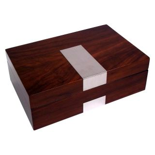 High Gloss Lacquered 8 Watch Box   Walnut Finish   11.85W x 3.25H in.   Mens Jewelry Boxes
