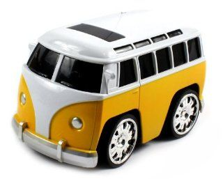 Volkswagen Bus Super Mini Electric RC Car RTR Fun Size, Big Chrome Rims (Colors May Vary) Toys & Games