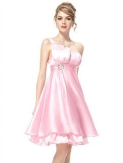 Ever Pretty Ruffles Silk Satin Bow Rhinestones One Shoulder Cocktail Dress 03229