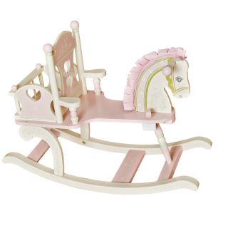Levels of Discovery Kiddie Ups Rock A My Baby Wooden Rocking Horse   Rocking Toys