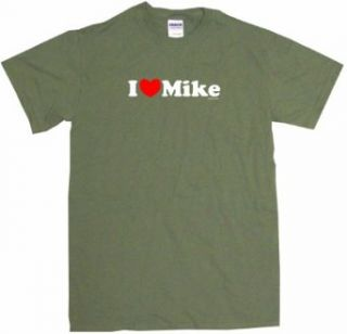 I Heart Love Mike Men's Tee Shirt Clothing