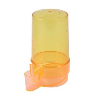 Uxcell Plastic Bird Cage Water Bottle Feeder, Clear/Orange