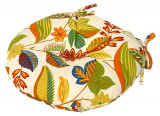 Greendale Home Fashions 15 inch Round Outdoor Bistro Seat Cushion Set of 2   Outdoor Cushions