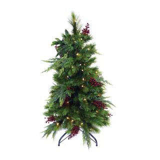 3 ft. Lawnstake Pre lit LED Christmas Tree with Stand   Battery Operated   Christmas Trees