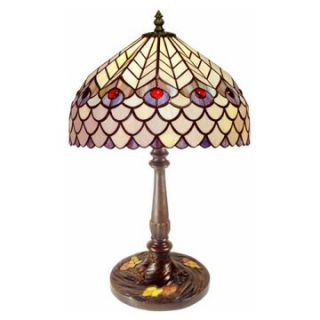 Tiffany Style Peacock Table Lamp   Table Lamps