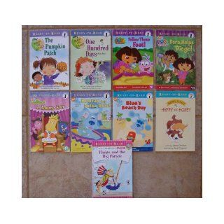 "Set of 9 ""Ready To Read"" Early Reader Books Level 1 (Dora the Explorer Helps Diego ~ Follow Those Feet ~ The Big Parade ~ Blue's Clues Hooray for Polka Dots ~ Blue's Beach Day ~ Backyardigans A Merry Fair ~ The Pumpkin Patch (Robin Hill"