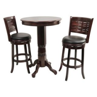 Boraam Sumatra 3 Piece Pub Table Set   Cappuccino   Pub Tables