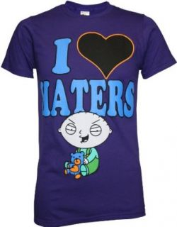 Family Guy Stewie I Heart Haters Men's Slim Fit T Shirt at  Men�s Clothing store