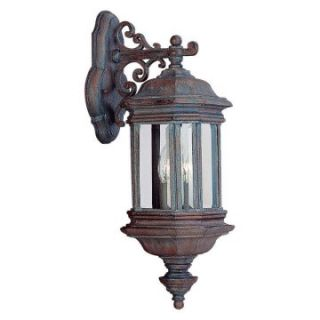 Sea Gull Hill Gate Outdoor Hanging Wall Lantern   19.75H in. Textured Rust   Outdoor Wall Lights
