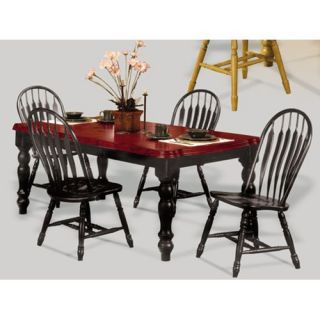 Sunset Trading 5 pc. Extension Dining Table Set with Arrowback Chairs   Chestnut   Dining Tables
