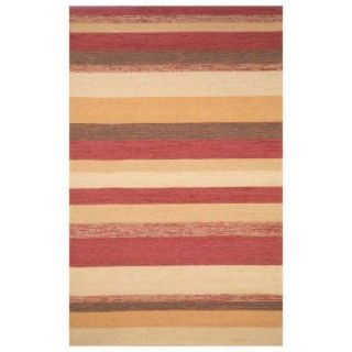 Trans Ocean Ravella Stripe Indoor/Outdoor Area Rug   Red   Rugs