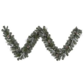 Vickerman 9 ft. Frost White Mix Tip Pre Lit Garland   Christmas Garland