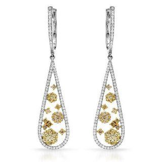 CLK Diamond 18K Two Tone Gold 1.86CTW Diamond Earring Jewelry