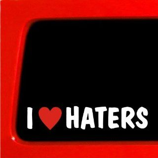 I HEART HATERS Funny JDM Decal Vinyl Sticker Car Import Shocker Automotive