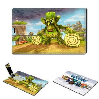 8GB USB Flash Drive USB 2.0 Memory Stick Skylanders Anime Comic Game Credit Card Size Customized Support Services Ready Single player Cooperative Multi player Competitive PvP Spyro Trigger Happy Gill Grunt Spyro's Adventure legendary video games collec
