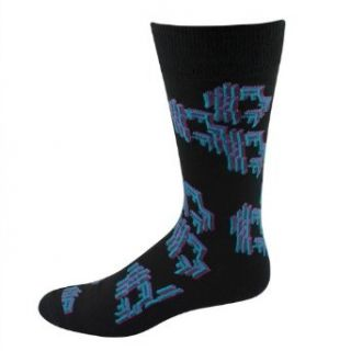 Hot Sox men's casual socks Futuristic crew black 1pair Clothing