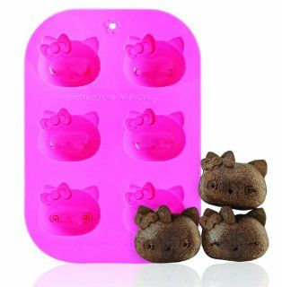Siliconezone SZ10CM 11305AB Hello Kitty 6 Cup Muffin Mold Kitchen & Dining