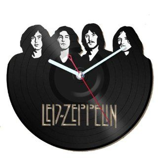 Clock Vinyl Record Recycled Wall   Home Living Room Decor   Led Zeppelin