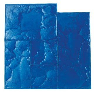 BonWay 12 881 24 Inch by 24 Inch Ashlar Cut Stone Urethane Texture Mat, Blue   Multi Function Power Tools