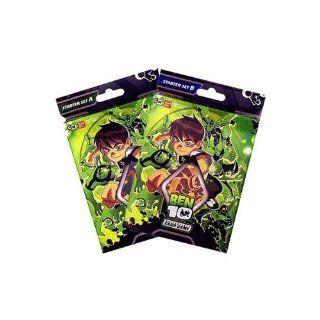 Ben 10 Collectible Trading Cards Game Starter Deck Set a & B . 80 Cards Total Toys & Games