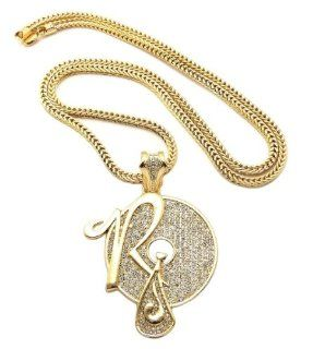 "New Iced Out ROCAFELLA Pendant 4mm&36"" Franco Chain Hip Hop Necklace XP888G Jewelry"