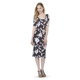 Mossimo Supply Co. Juniors Printed Midi Dress   Broken Floral L(11 13)