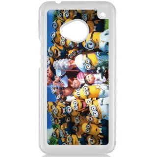 Despicable Me Minions HTC One M7 Hard Plastic Black or White case (White) Cell Phones & Accessories