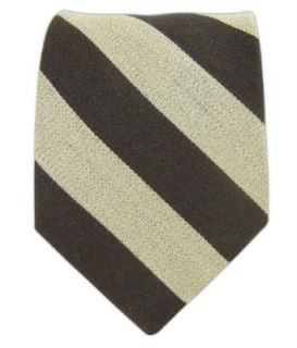 Charcoal and Light Beige College Wool Striped Tie at  Men�s Clothing store
