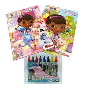 Doc McStuffins Big Fun Coloring Book and Crayon Set   2 Coloring / Activity Books, 8 Jumbo Crayons Toys & Games