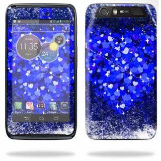 MightySkins Protective Skin Decal Cover for Motorola Atrix HD Cell Phone AT&T Sticker Skins Hearts Explosion Cell Phones & Accessories