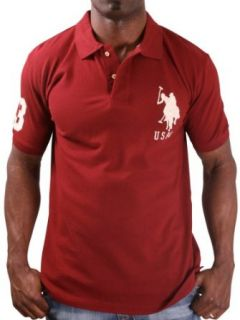 US Polo Assn USPA Men's Solid Polo Shirt Big Pony Red Size XL at  Men�s Clothing store