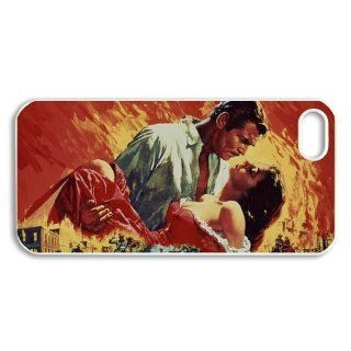 Gone with the Wind iPhone 5 Case Hard Plastic iPhone 5 Case Cell Phones & Accessories