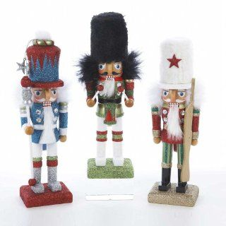 "10"" Glittered Traditional Color Hollywood Nutcracker   Decorative Christmas Nutcrackers"
