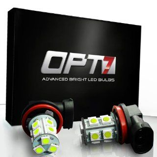 OPT7� 5202 Advanced Bright 13 SMD LED Fog Light Bulbs   10000K Deep Blue   Plug n Play (Pack of 2) Automotive
