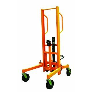 "Wesco 272967 High Lift Hydraulic Drum Truck, Polyurethane Wheels, 880 lbs Load Capacity, 76 3/4"" Lift Height, 54 3/4"" Width x 71 1/4"" Height x 43 1/2"" Depth Hand Trucks"