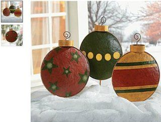 Giant Christmas Tree Ornament Garden Decor Yard Stakes Outdoor  Christmas Ornaments Balls  Patio, Lawn & Garden