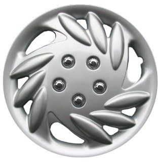 "Drive Accessories KT891 14S/L 14"" Silver and Lacquer ABS Plastic Wheel Cover Replica Hubcaps, (Set of 4) Automotive"