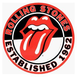 Rolling Stones   Round Established 1962 Logo with Tongue   Sticker / Decal Automotive