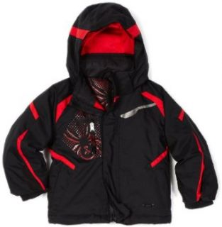 Spyder Infant/Toddler Boy's Mini Leader Jacket, Black/Red/Red, 5  Skiing Jackets  Sports & Outdoors