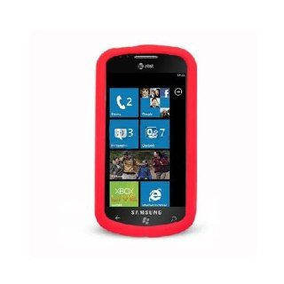 Samsung Focus i917 SGH I917 Red Soft Silicone Gel Skin Cover Case Cell Phones & Accessories