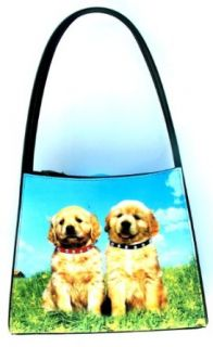 Labrador Retriever Puppies Dog Themed Shoulder Handbag Tote Handbags Clothing