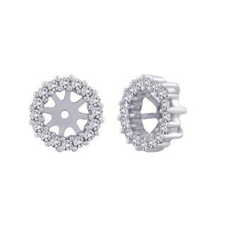 14K White Gold 1/3 ct. Diamond Earring Jackets Katarina Jewelry