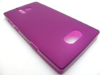 PURPLE MATTE TPU Gel Rubber Skin Cover Case for Nokia Lumia 928 In Twisted Tech Packaging Cell Phones & Accessories