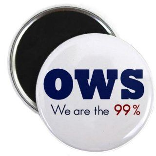 OWS Occupy Wall Street Protest WE ARE THE 99% 2.25 inch Fridge Magnet  Refrigerator Magnets