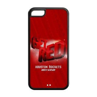 NBA Houston Rockets Get Red Team Logo iPhone 5C Best TPU And PC Case for Fans Cell Phones & Accessories