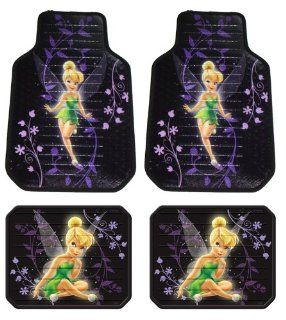 Tinker Bell Mystical Fairy Disney Front & Rear Car Truck SUV Seat Rubber Floor Mats   4PC Automotive