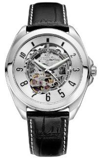 Festina Men's F6744/1 The Skeleton Stainless Steel 21 Jeweled Automatic Movement Leather Strap Watch at  Men's Watch store.