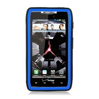 Eagle Cell PAMOTXT913SPSTBLBK Advanced Rugged Armor Hybrid Combo Case with Kickstand for Motoroal Droid Razr Maxx XT913   Retail Packaging   Blue/Black Cell Phones & Accessories