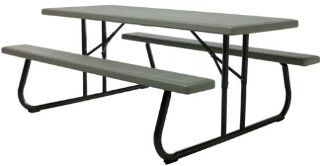 Lifetime Folding Picnic Table for 8, Bronze/Sage (Discontinued by Manufacturer)  Patio, Lawn & Garden